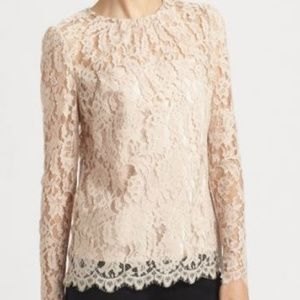 "Milly ""Ivy"" Lace Blouse in Nude"